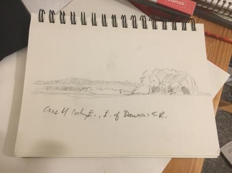 First sketch, Dawson's sideroad near 4th Concession, Tiny Township