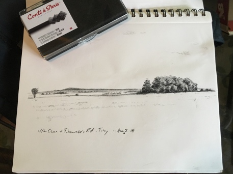 Planning drawing for Dawson's Sideroad and Fourth Concession