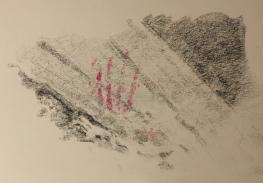 Study for Mazinaw Lake pictograph